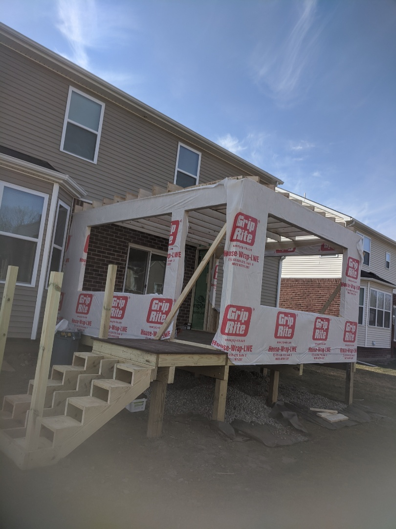 Canton, MI - Third day on deck and screen porch walls up  ready for roof tomorrow here in canton