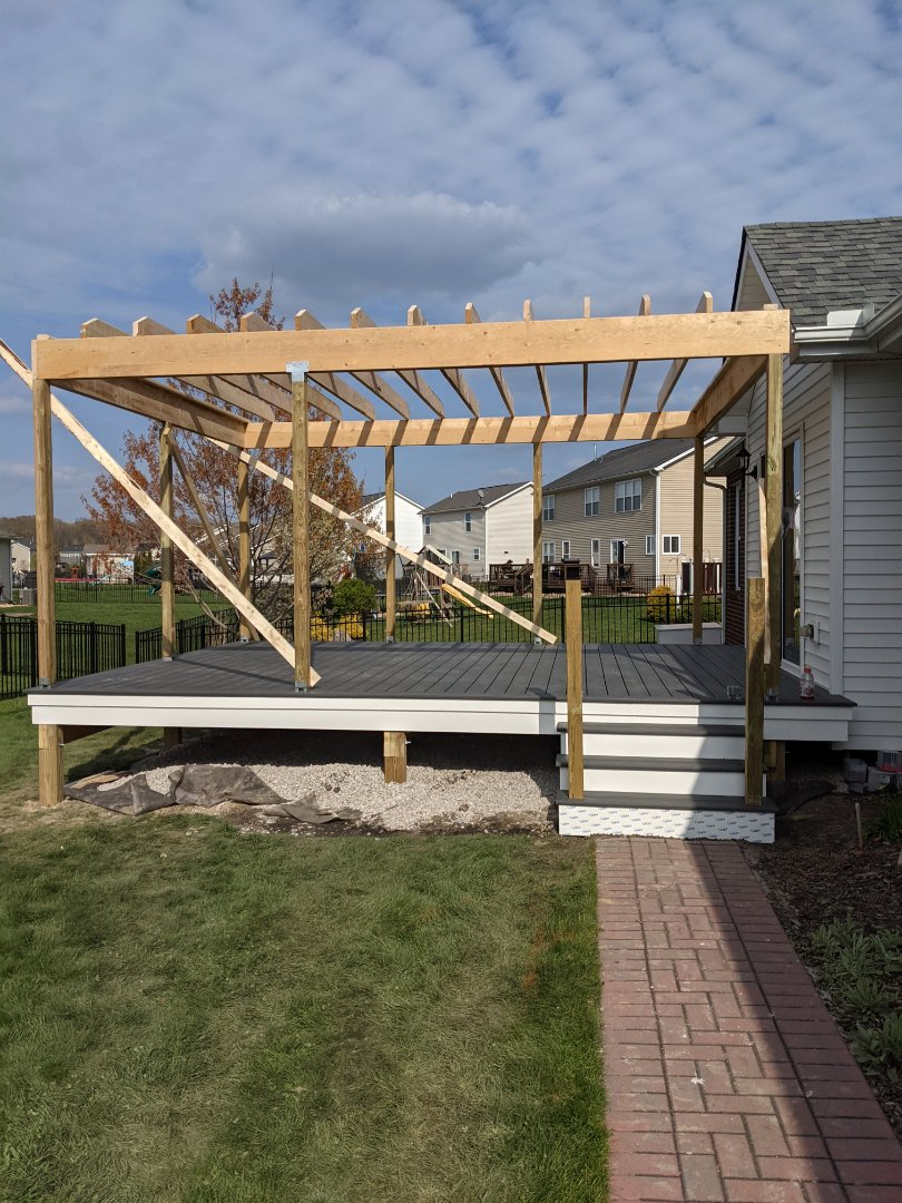 Flat Rock, MI - Day two of covered porch and deck