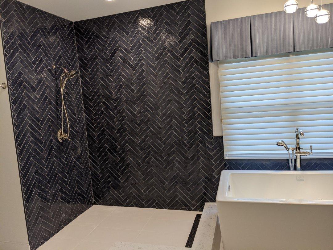 Ann Arbor, MI - A beautiful bathroom in Ann arbor stand up shower a stand alone tub