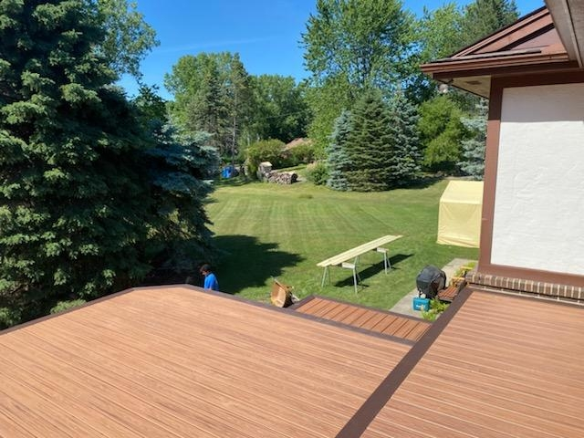 Day two of a old wood deck to new beautiful trex deck  and rail