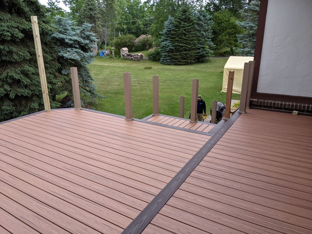 Plymouth, MI - Start of a new trex transformation from old wood deck to a new beautiful trex deck