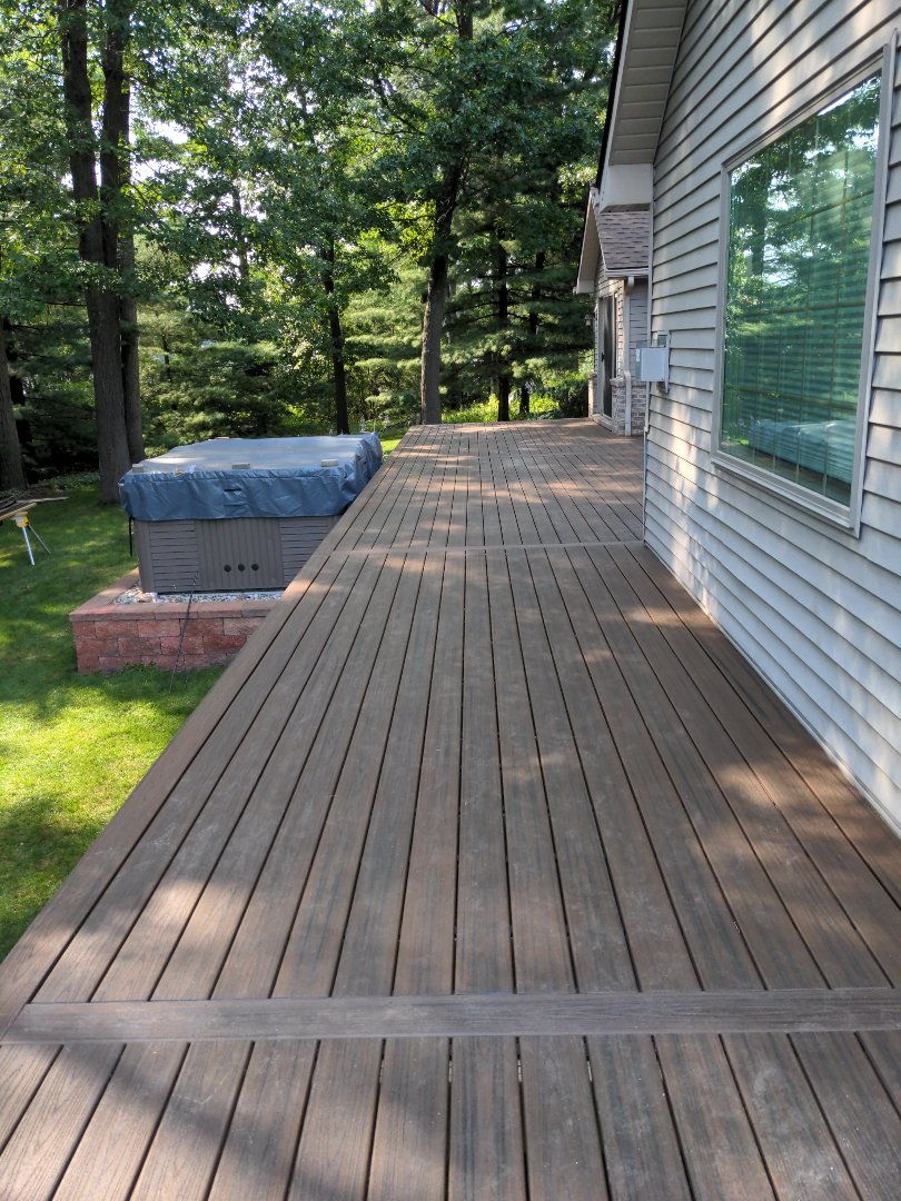 Howell, MI - Day five of retop main deck is ready for rail  what a change from the beginning
