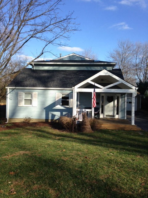 Fairfax, VA - Just finished replacing a leaky roof with Landmark charcoal black shingles.