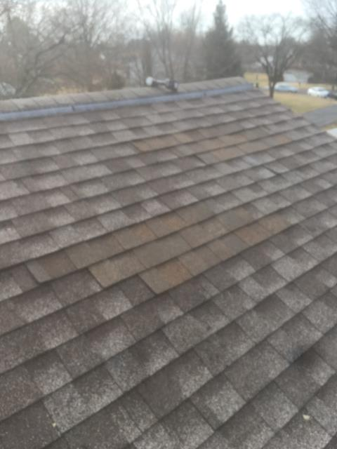Herndon, VA - Old satellite dish? No problem! We removed the dish and sealed up the roof with new shingles.