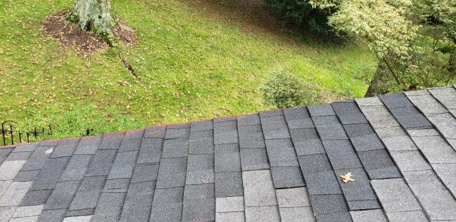 Haymarket, VA - When hail storm damage caused a leak, we replaced the damaged shingles on this home.