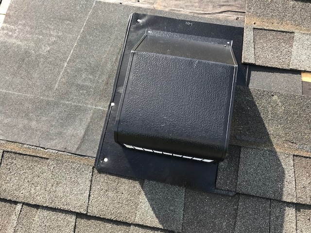 Warrenton, VA - The homeowner discovered water stains on the ceiling, caused by a leak at the vent opening. We removed the existing 650 vent, installed ice and water shield around the opening and installed a new vent.