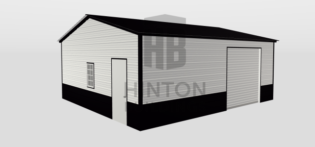 Goldsboro, NC - Rob Ruggiero designed and purchased a 22x26x9 garage for his home in Goldsboro! Thank you for trusting Hinton Buildings for your building needs!