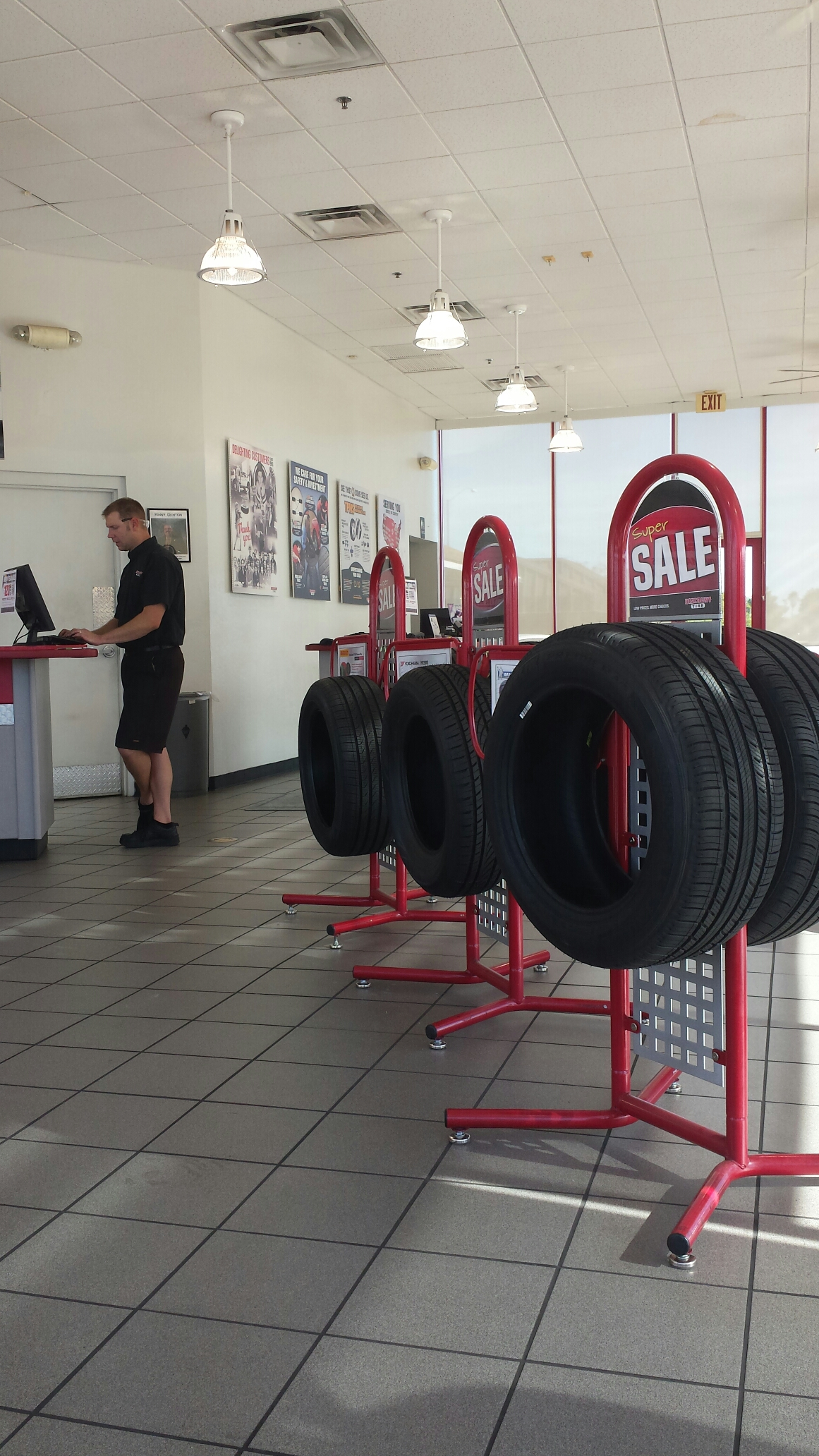 Phoenix, AZ - Getting new tires for the sales truck.