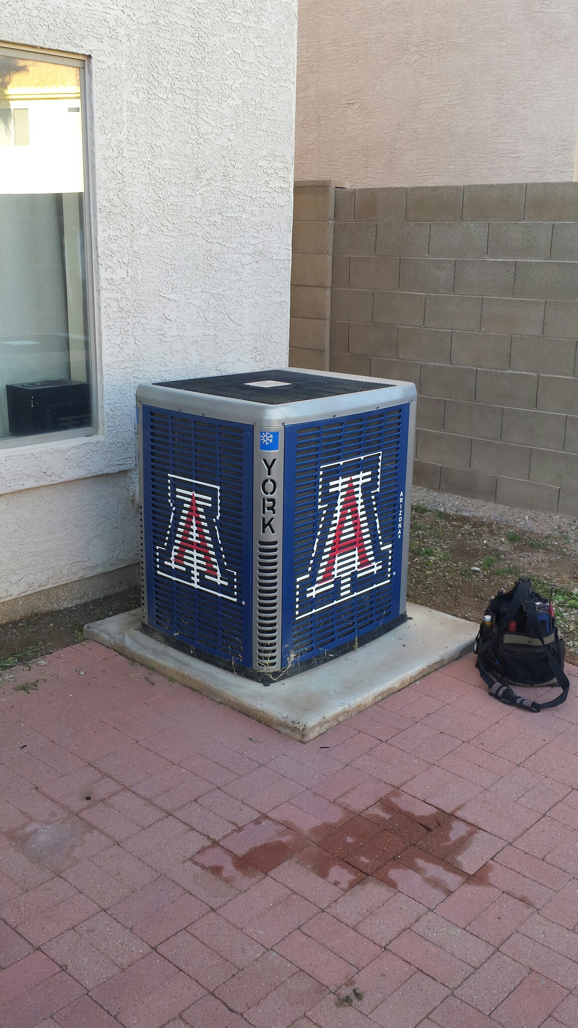 Phoenix, AZ - Performed winter heating maintenance on this split system. Also installed a Surge Protector for safety.
