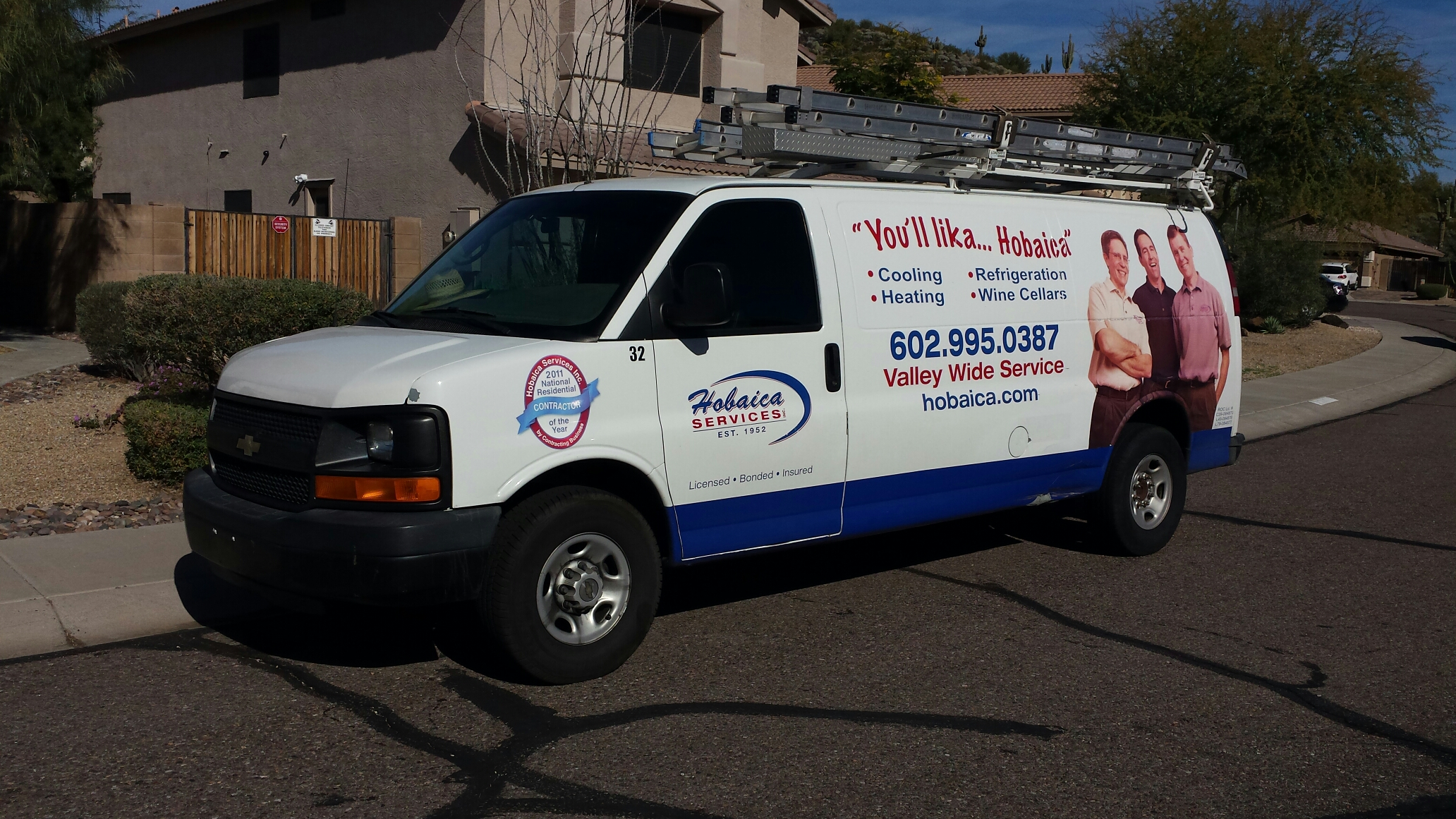 Phoenix, AZ - Performing winter maintenance on the split heat pump.