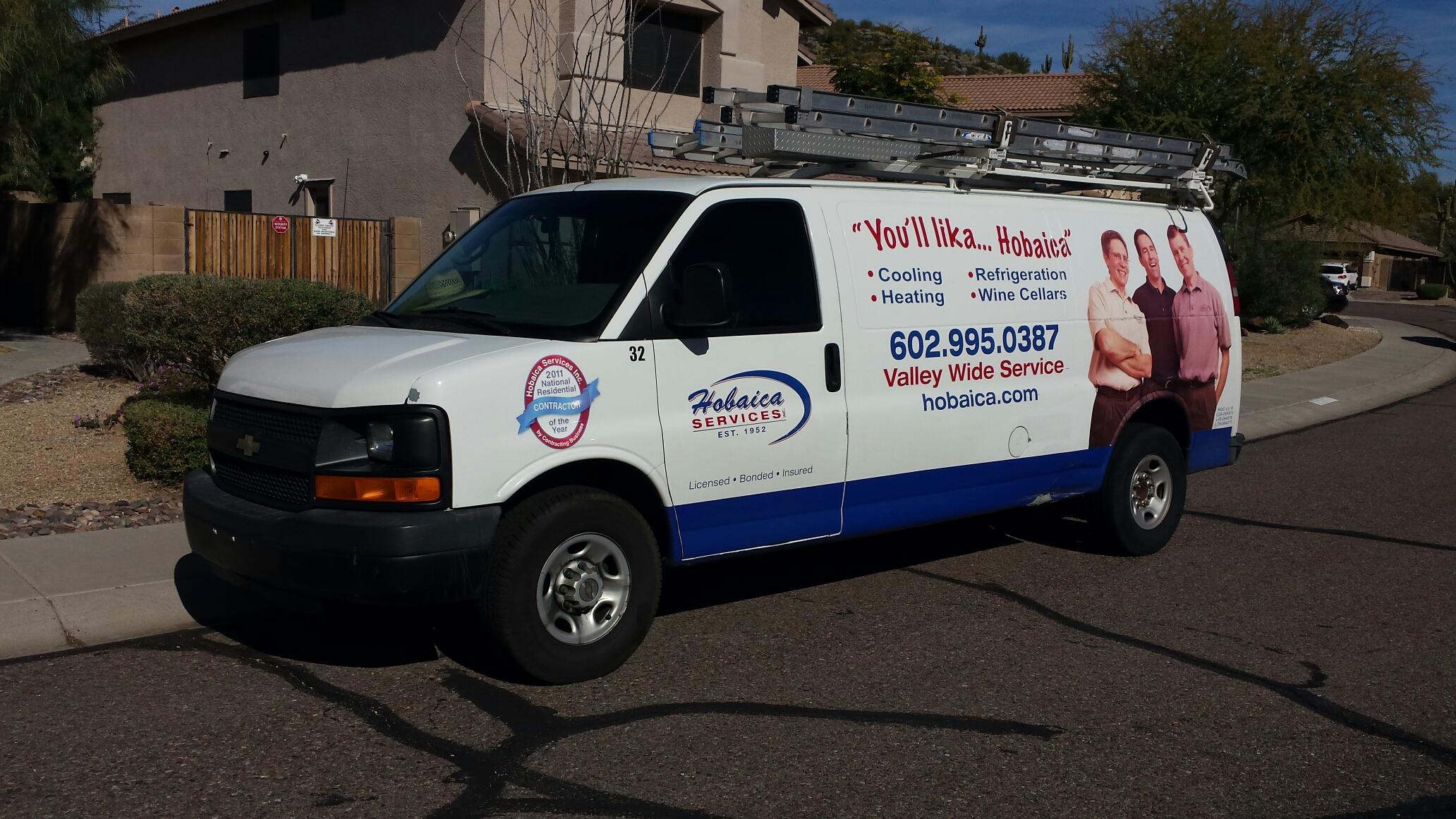 Phoenix, AZ - Performing A/C maintenance.
