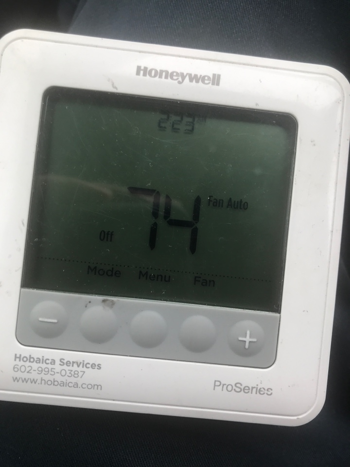 """Phoenix, AZ - Warranty 1st Year (12-4) From Tom: """"I sealed up temporary however we will return with Duct sealant to finish. Also went over a possible wireless indoor sensor locations for the thermostats with customer and they will think about having us install them when we return tomorrow."""""""