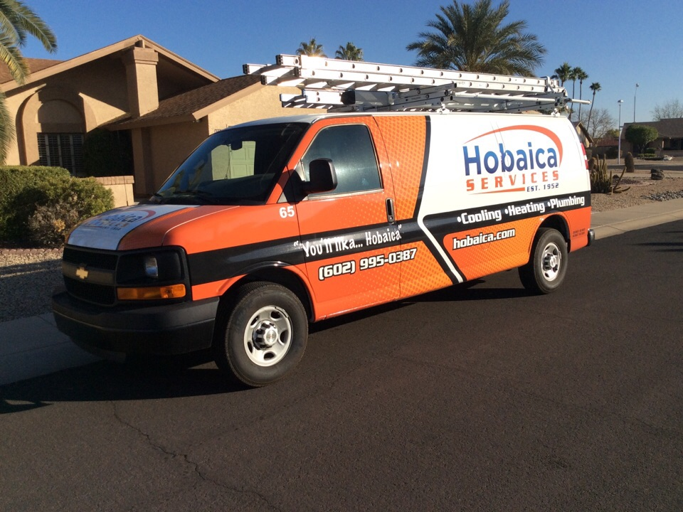 Glendale, AZ - Perform maintenance on a Daikin package heat pump. Checked filter, thermostat operation, return and supply temperature, refrigerant pressure, compressor, indoor and outdoor motor amps, capacitor, tightened electrical connections, indoor and outdoor coil, drain pan/line is clear. Unit is running properly at this time. Thank you for choosing Hobaica Services.