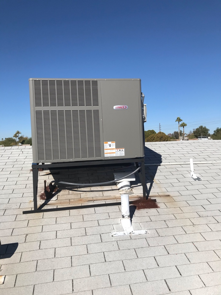 Tempe, AZ - I am in Tempe Arizona I have completed seasonal maintenance on a 2019 Lennox package heat pump. I found a few capacitors starting to decline but are still within range so they can be left as is and the motors that are regulated by them have amp draw's that are within range of manufacture specifications. I made recommendations on adding extra air filtration And search protection but only because the system is operating without these devices. The system is operating properly at this time