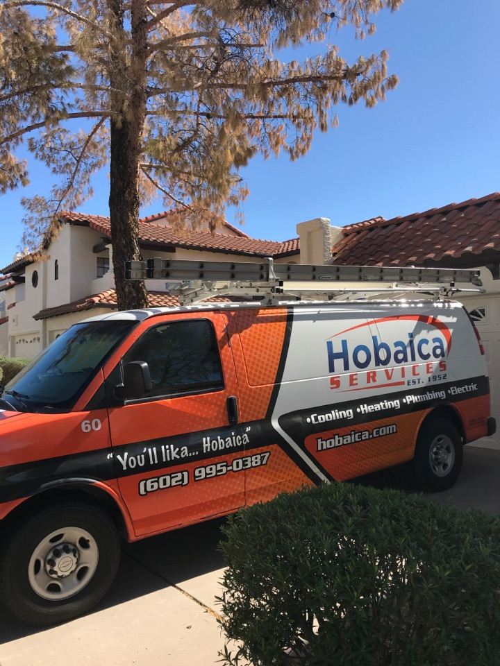 Scottsdale, AZ - In Scottsdale Arizona I completed a seasonal heating maintenance on a train split heat pump. I checked temperatures, airflow, amp draw's of motors and inspected motors, cleanliness of air handler, drain pan, flush drain line. All capacitors compressor amp draw and refrigerant pressures and temperatures were all within a optimal range and nothing is needing to be changed or repaired at this time. Thank you for choosing Hobaica!