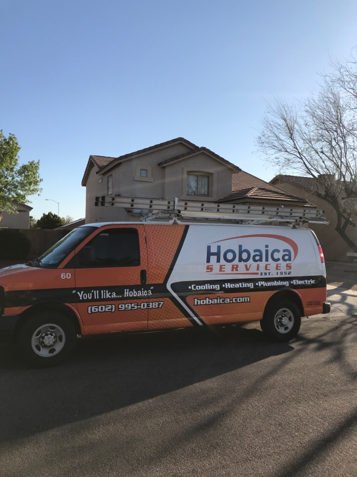 Peoria, AZ - In Peoria Arizona, I came to complete an indoor blower motor cleaning, an indoor coil cleaning and change out the 60 amp disconnect box. All three tasks are completed and the unit is operating properly at this time. Thank you for choosing Hobaica services!