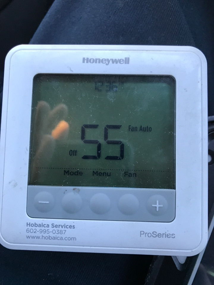 Gilbert, AZ - Quality control inspection and newly installed Lennox gas split system in the attic and on the ground with rebates for new ac system