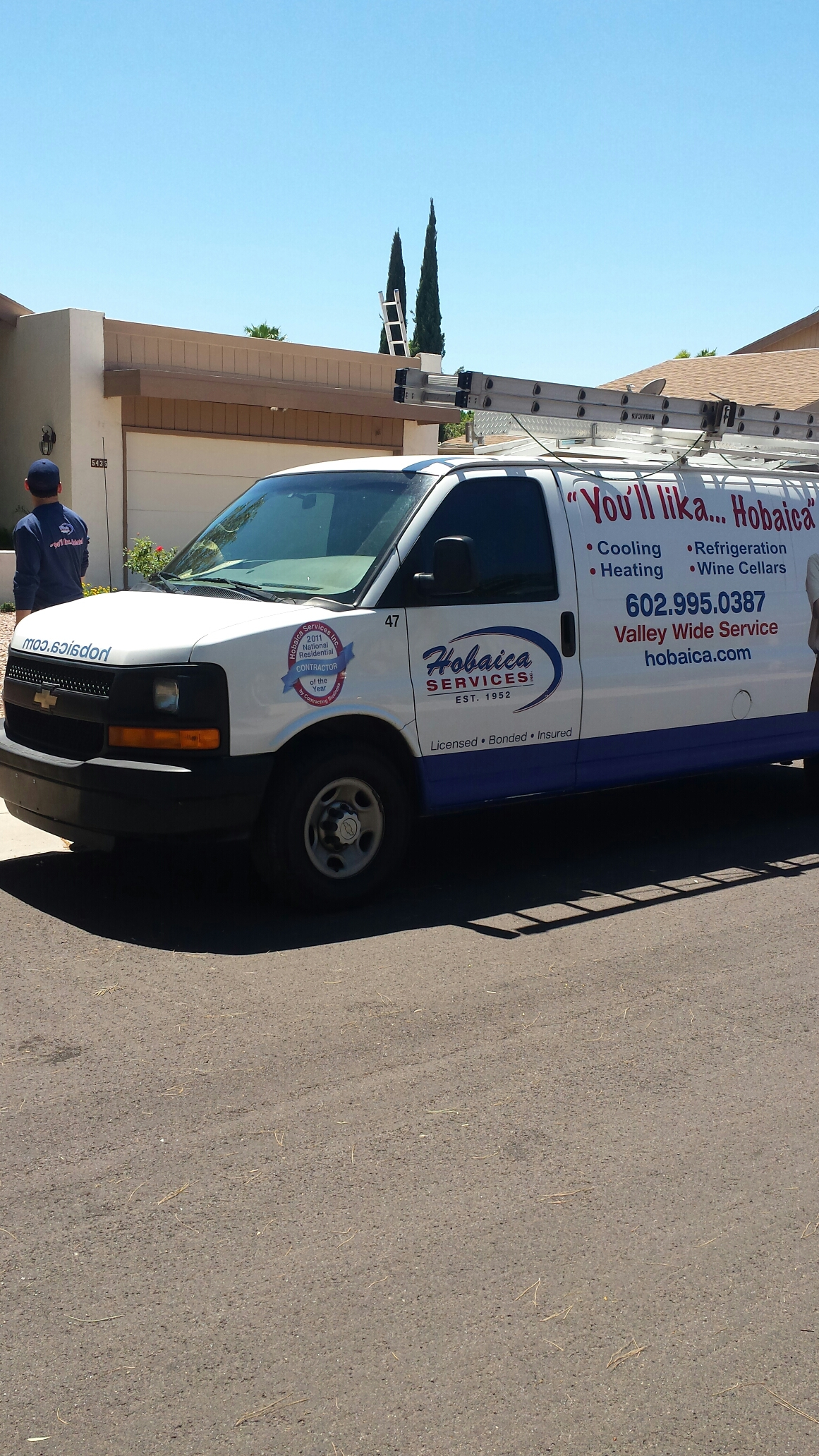 Phoenix, AZ - Performing A/C Maintenance