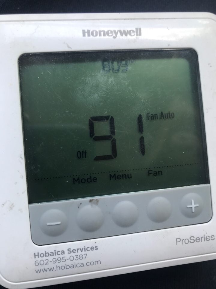 Scottsdale, AZ - I installed a new add a wire so customer can now control her indoor blower from the thermostat.