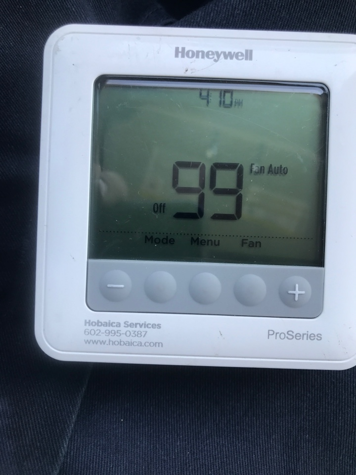 Phoenix, AZ - performed gas heating maintenance, performed full combustion analysis, cleaned burner assembly, inspected flame rod, igniter and safeties, measured airflow and temperature rise and blower motor operation. Equipment is operating properly and readings are within manufacture specifications at this time. Thank you for your continued confidence.