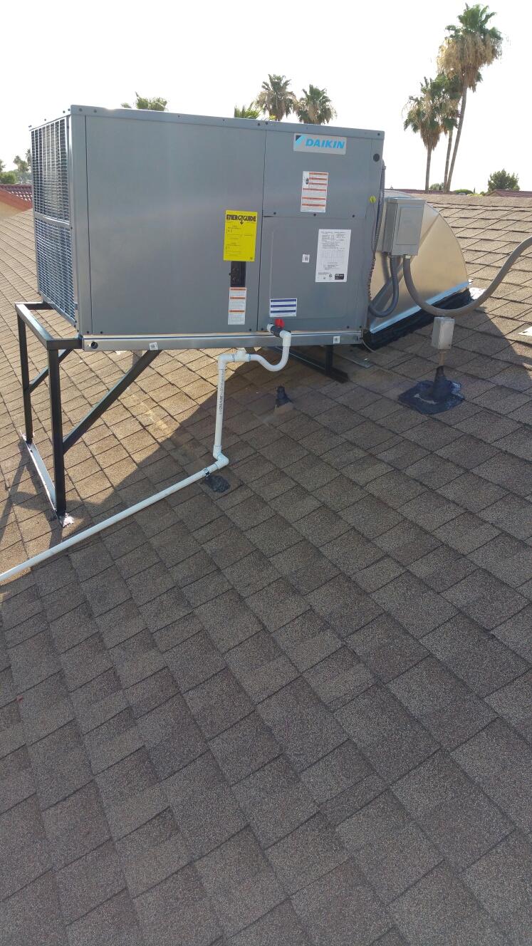 Sun City West, AZ - Install Daikin package heat pump, 14 SEER