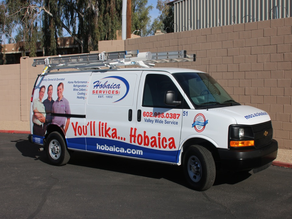 Phoenix, AZ - It's a great day here at Hobaica Services, ready to take care of our customers comfort needs :-)