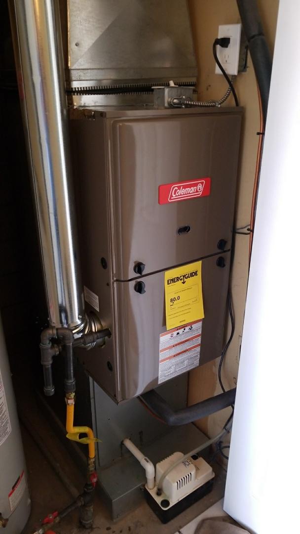 Albuquerque, NM - Install downflow Coleman furnace