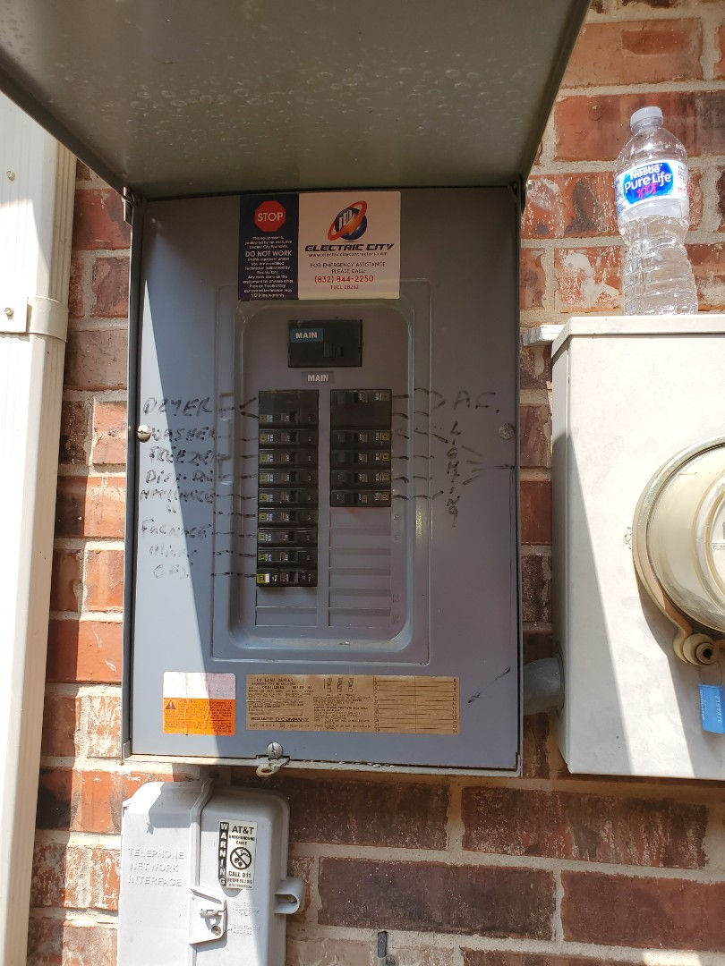 Katy, TX - Installed a new circuit breaker for a customer in Katy.