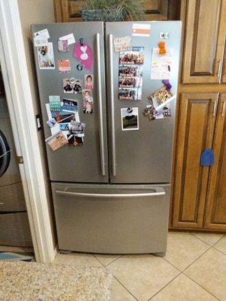 Chandler, AZ - LG refrigerator leaking water.