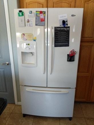 Mesa, AZ - Maytag refrigerator leaking water.