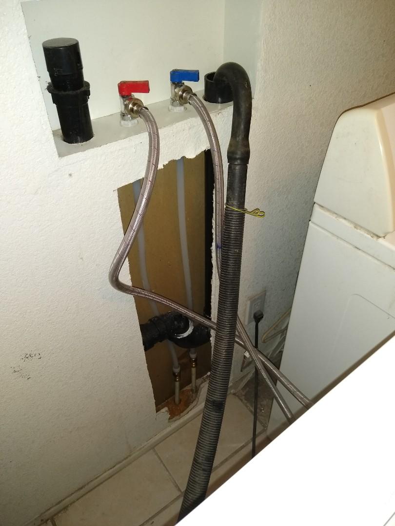 Tucson, AZ - New laundry control valves installed.