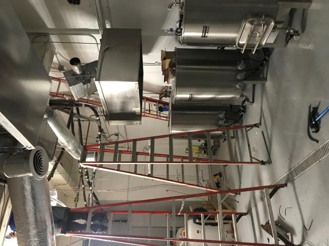Oklahoma City, OK - Finishing touches on Core4 Micro Brewery. New 120v LED lighting- Downtown OKC