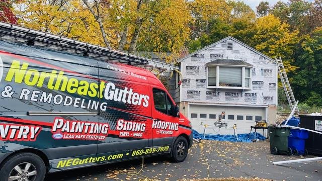 Simsbury, CT - Siding removal, new siding installation of western cedar shingles with PVC trim and painting