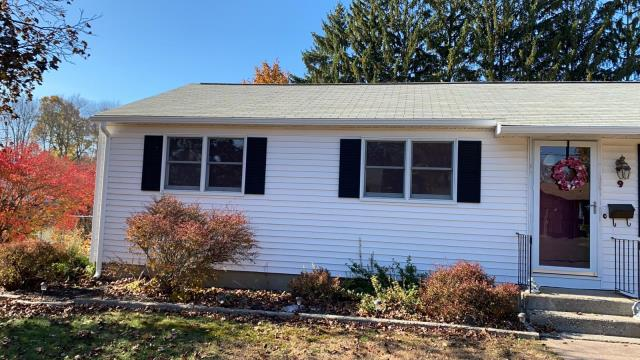 Enfield, CT - 5K aluminum seamless and 2x3 downspout installation