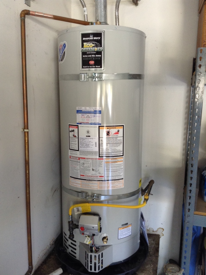 AAP Home Services was called to locate a leak diagnosed it was the water heater. Replaced with a fifty gallon high efficiency Bradford white....
