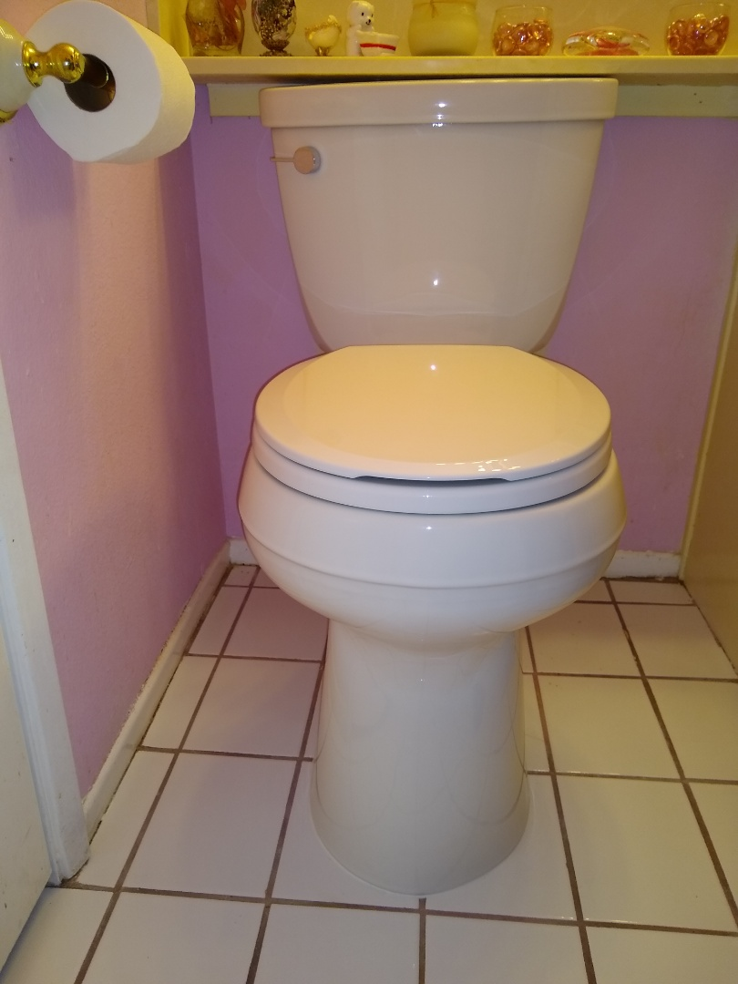 Removing and replacing new Kohler toilet bowl