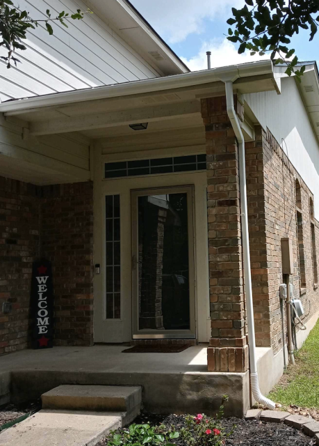 Austin, TX - Removed old and rusted gutter and replaced with new!