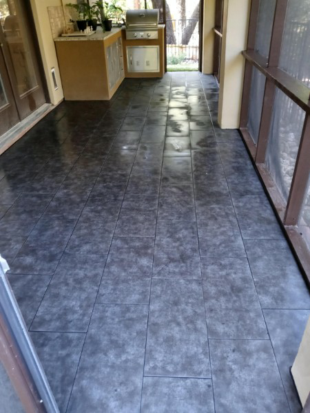 Austin, TX - Tile installation on covered patio!