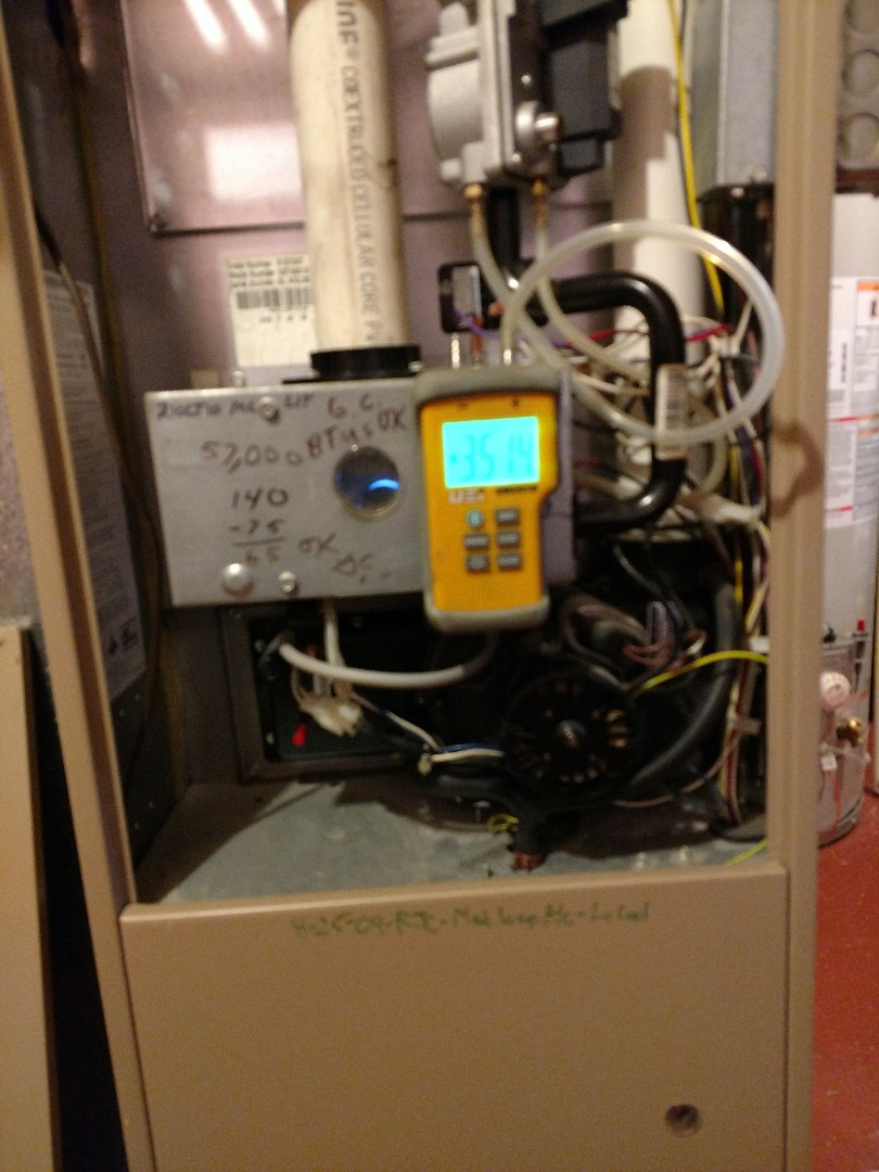 Kenosha, WI - Performed tune up on Luxaire high efficiency furnace