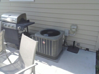Oak Creek, WI - AC start up Rheem Air Conditioner. Installed with pride.