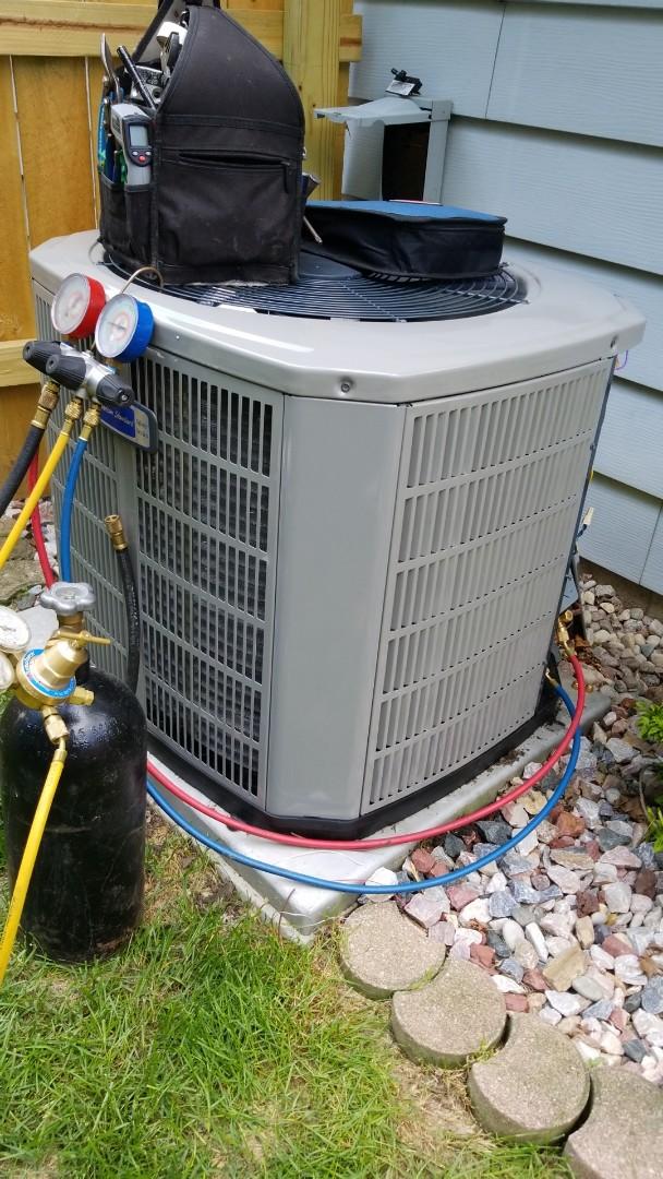 Waukesha, WI - Installing new American Standard Air Conditioner