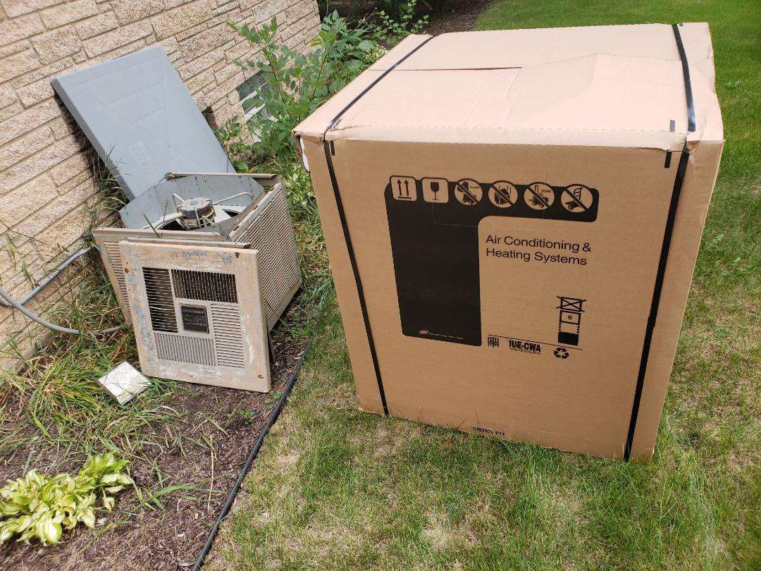 Greenfield, WI - Replacing Magic Chef Air Conditioner with New American Standard High Efficient AC