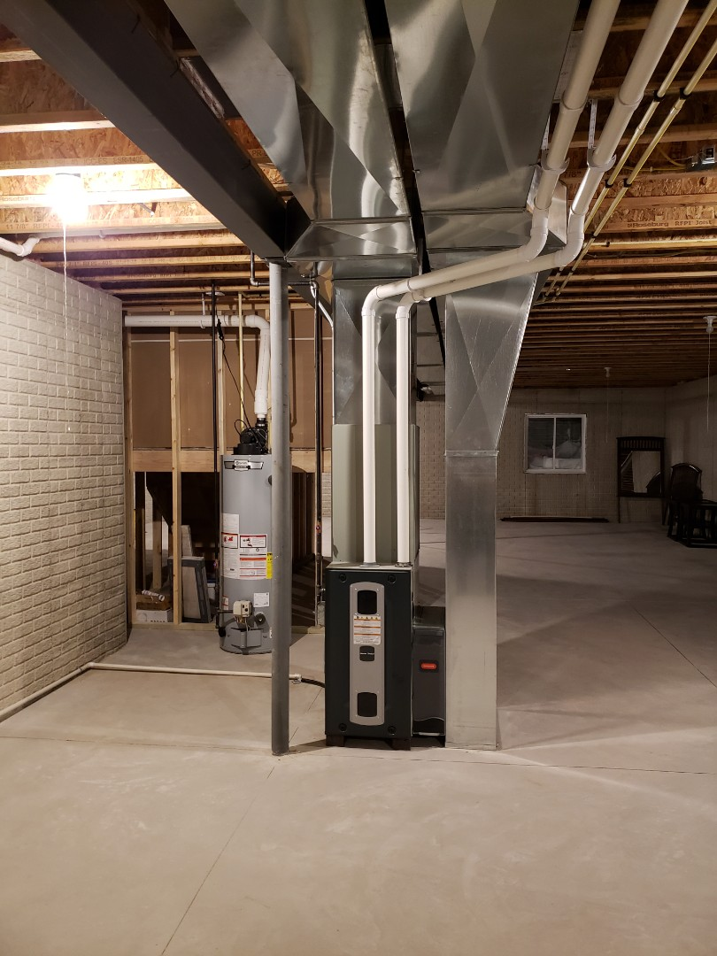 Kenosha, WI - New construction, American Standard furnace and duct work