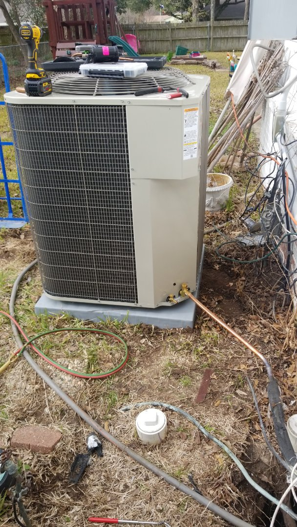 Terrell, TX - Installing 5 ton ac system with gas heat