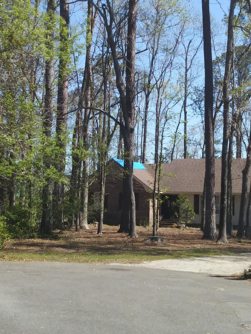 Leland, NC - Asphalt shingle roof replacement and screen porch conversion to 3 season to keep pollen and weather out.