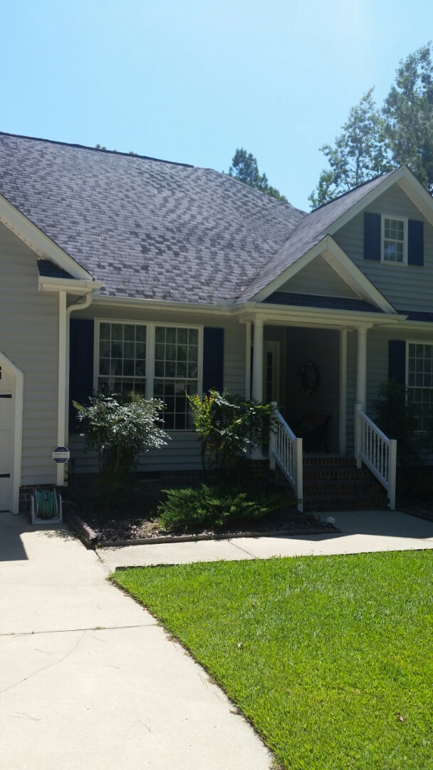 Knightdale, NC - New Energy Catchers project. Will remove 2 twin double hungs and a single double hung and replace with new vinyl replacement windows.