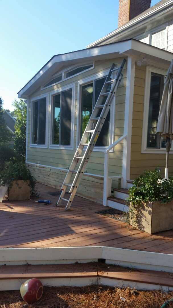 Holly Springs, NC - Sunroom nearing completion. Room being painted and Floors to go in then all will be complete