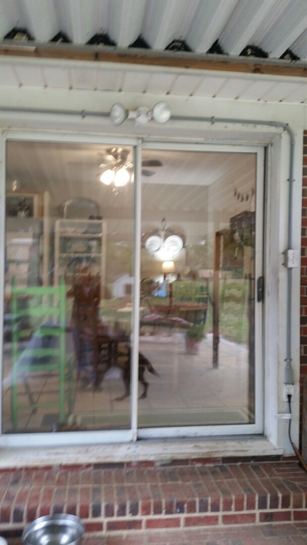 Garner, NC - Future project removing a standard 6 inch sliding patio door and replacing with a new vinyl replacement 6 ft patio door
