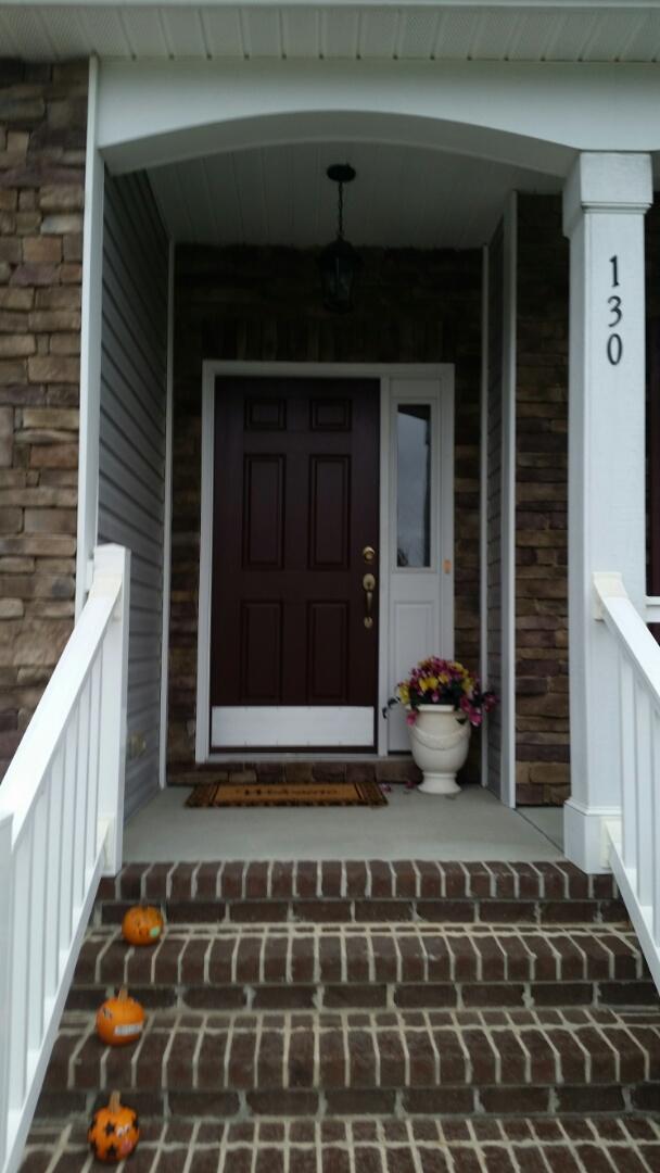 Garner, NC - Replacing front entry door with new entry door.