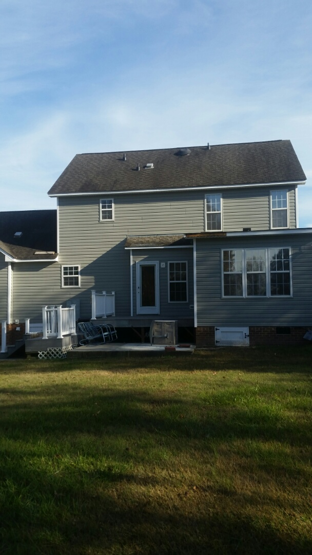 Pleasant Grove, NC - Willow Springs vinyl siding replacement. Also replaced exterior entry door with a new provia door and a new roof is soon to come